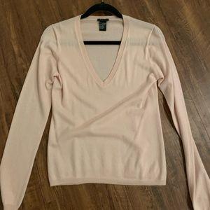 Theory pale pink cashmere sweater size M